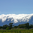 Clouds over Hottentots Holland Mountains