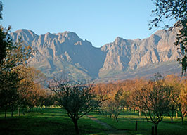 Die Hottentots Holland Mountains in Somerset West