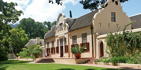Historic manor house Vergelegen winery
